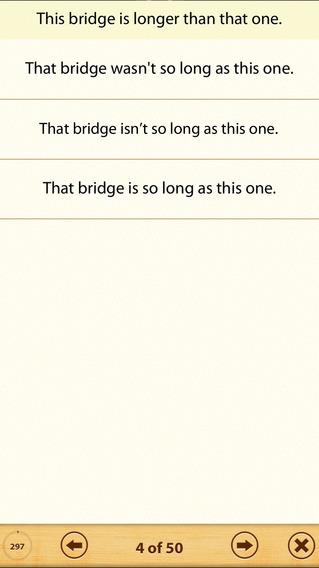 Grammar Express: Degrees iPhone Screenshot 3