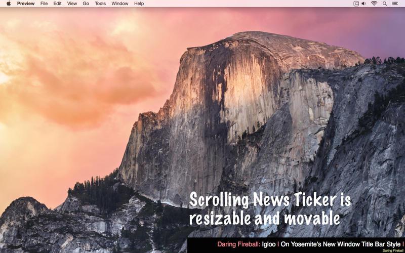 Scrolling News Ticker Screenshot - 4