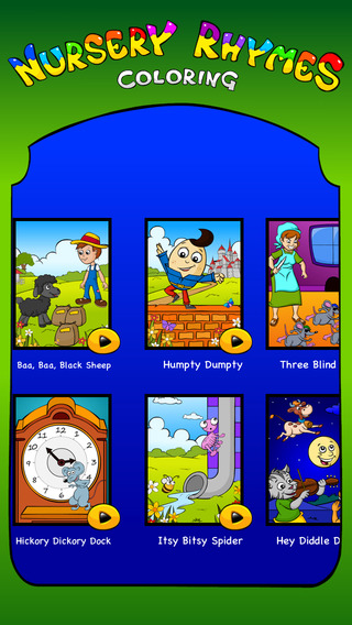 Nursery Rhymes Coloring Book