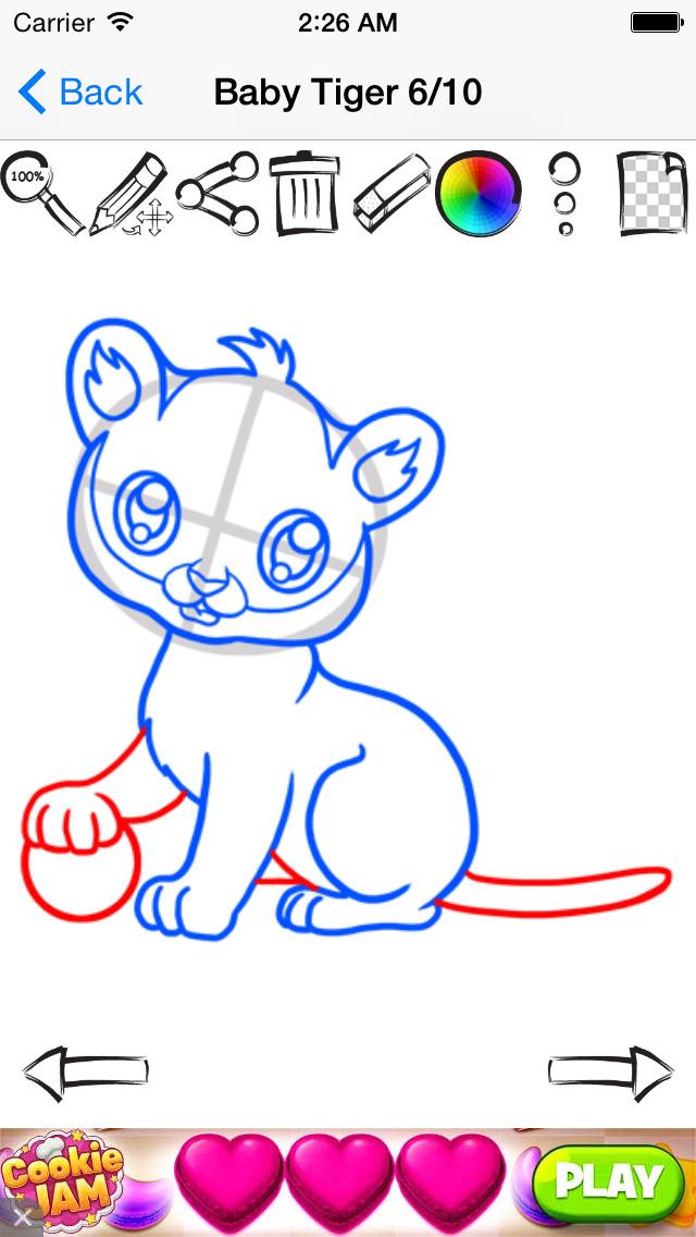 学画画的可爱动漫动物