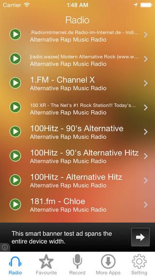 Alternative Rap Music Radio Recorder