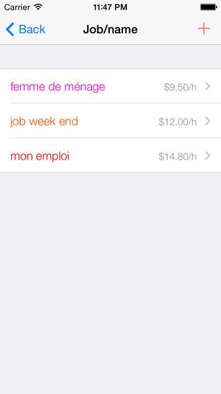 my working time iPhone Screenshot 3
