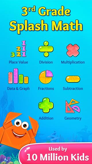 3rd Grade Splash Math Games. Multiplication divison tables free fraction learning drills for kids