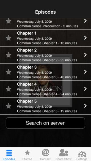 Common Sense Audiobook iPhone Screenshot 2