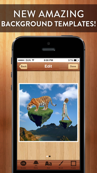 Cut Me In - Easy to use Photo Chop Background Adjuster to Superimpose yr images by Applause - not affiliated with Photoshop in any way! - iPhone Mobile Analytics and App Store Data
