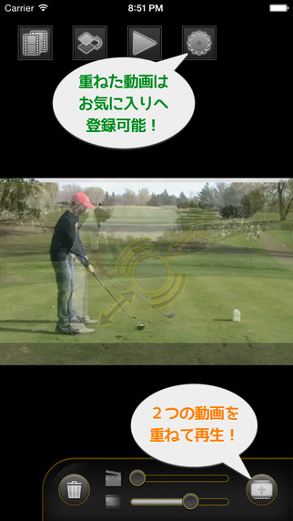 MultiVideo - Let's check the swing of their own by superimposing the video -