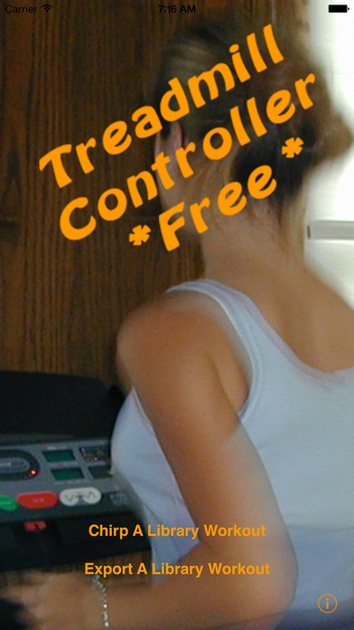 Treadmill Controller Free iPhone Screenshot 1