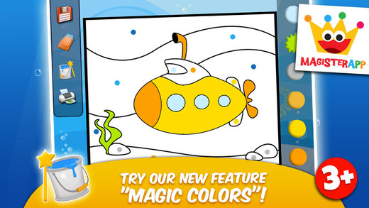 Ocean II - Matching Stickers Colors and Music Games for Kids - Lite