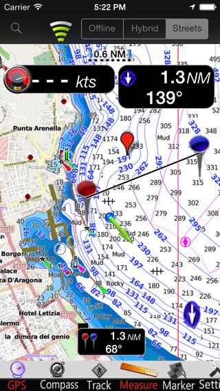 Sicily Island GPS Nautical charts