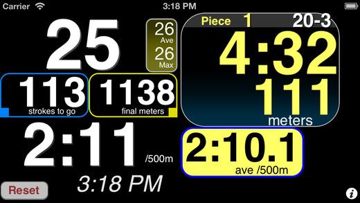 RitmoTime Free Rowing RP3 Erg Monitor
