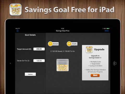 Savings Goal Free for iPad