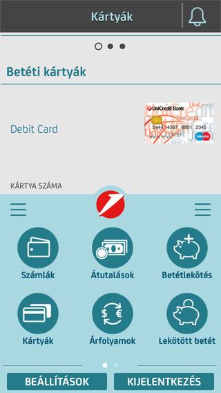 UniCredit Mobil alkalmazás