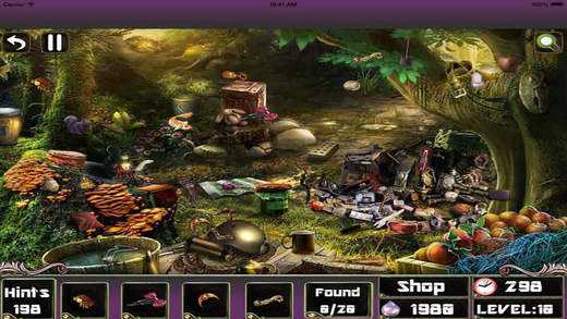 Hidden objects magical room