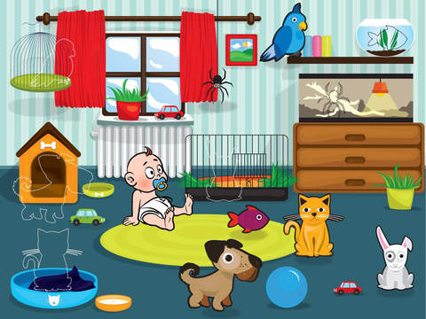 Animals - educational puzzle games for kids and toddlersscreeshot 2