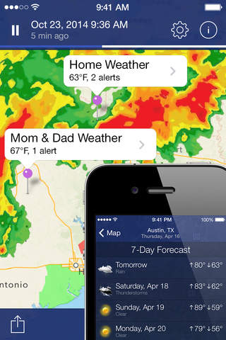 iphone NOAA Radar Pro – Severe Weather Alerts,  Forecast & Hurricane Tracker Screenshot 0