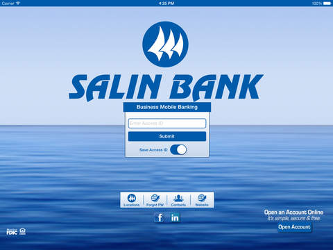 Salin Business Mobile Banking for iPad