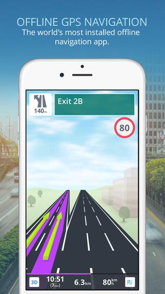 Sygic: GPS Navigation Offline Maps POI Traffic Speed Cameras