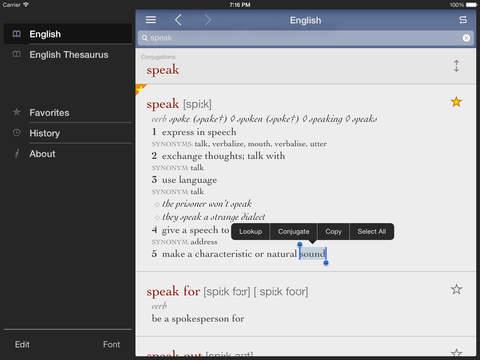 English Dictionary & Thesaurus by Ultralingua iPad Screenshot 1