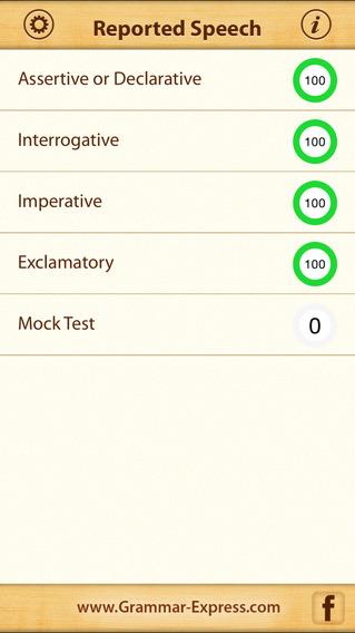 Grammar Express: Reported Speech iPhone Screenshot 1
