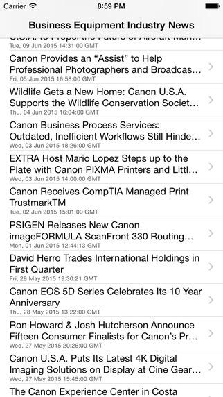 Business Equipment Industry News