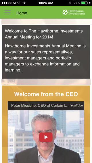 Hawthorne Investor Annual Meeting