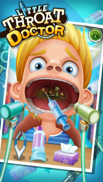 Little Throat Doctor – kids games iPhone Screenshot #1 screenshot