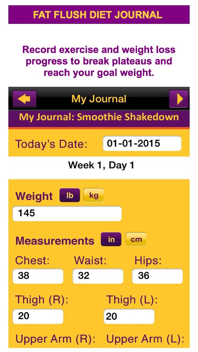App Shopper: Fat Flush Diet Plan & Meal Tracker Program ...