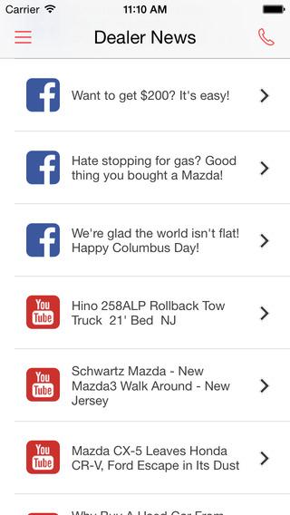 Schwartz Mazda iPhone Screenshot 4