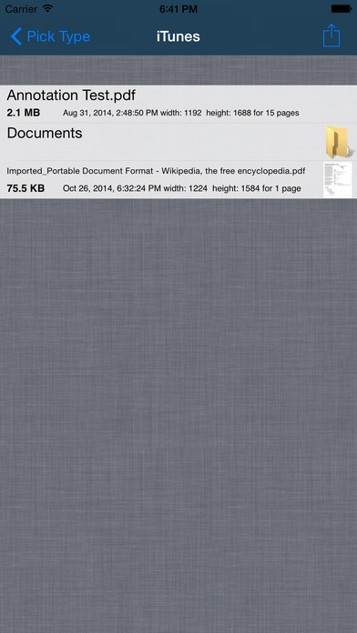 PDF Reader iPhone Screenshot 1