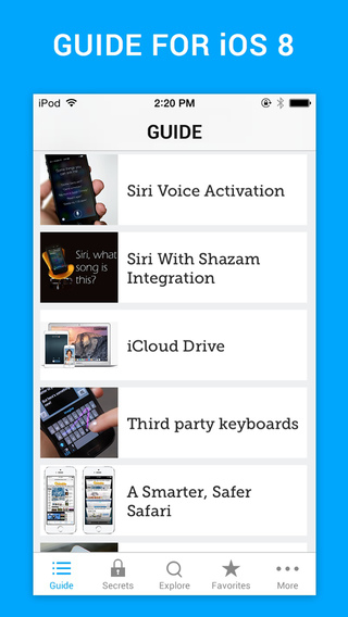 Guide for iPhone 6 and iOS 8 - Tips Tricks Secrets for iPhone iPad iPod Touch