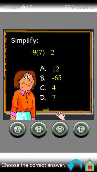 Algebra Concepts iPhone Screenshot 1