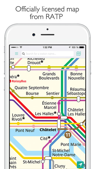 Paris Metro Map and Route Planner Screenshots