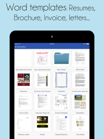 iWord Processor Pro for Microsoft Office + PDF Professional screenshot