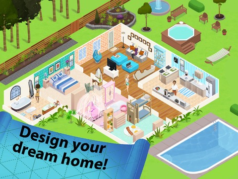 Home design story on the app store Create your house game