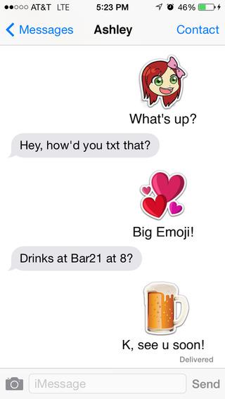 Big Emoji for Texting Facebook Twitter