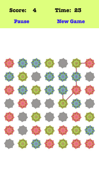 Classic Petal Plus - Connect the petals according to the order of the red green blue