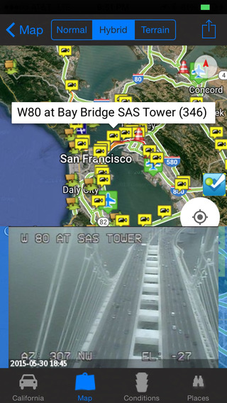 I-80 Road Conditions and Traffic Cameras + Street View + Places Around NOAA Travel All-In-1 Pro