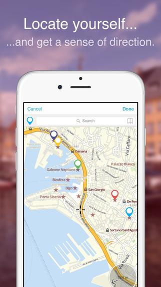 Genoa on Foot : Offline Map Screenshots