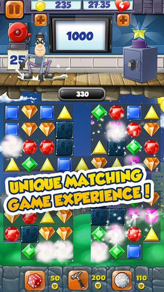 Jewel Blast Thief Quest Adventure – Match 3 Puzzle Game