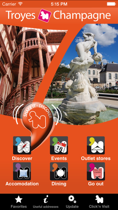 Click 'N Visit Troyes in Champagne – Visit the historic capital of the Champagne iPhone Screenshot 1