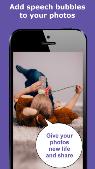 Bubbled: Speech Bubble Photo Editor comic maker to share with friends or family for Facebook Twitter