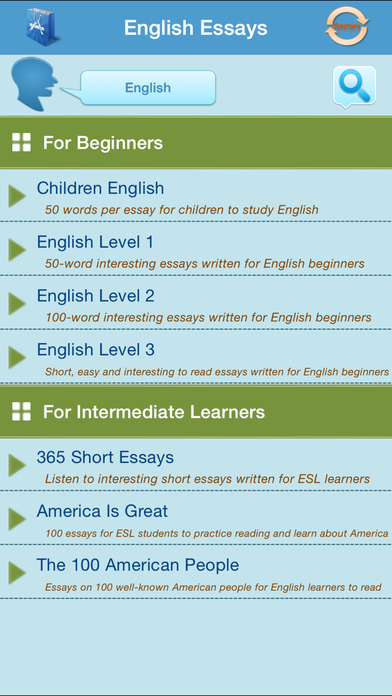 Learn English Through Essay Writing On The App Store Iphone Screenshot