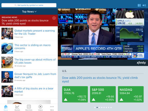 Screenshot 1 CNBC Business News and Finance