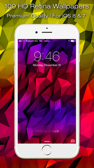 Colorful Triangles - Retina Wallpapers