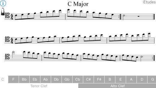 Major Scales Alto and Tenor Clef