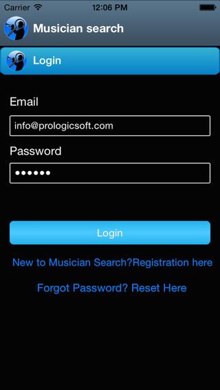 Musician Search App