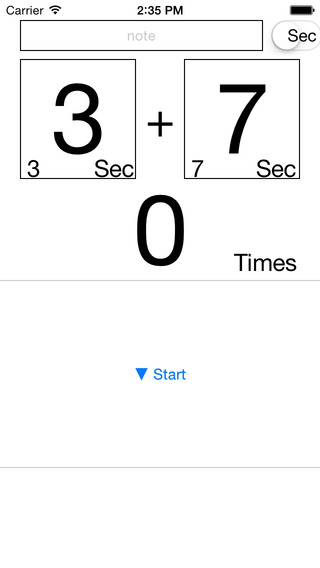 Seconds Interval Timer