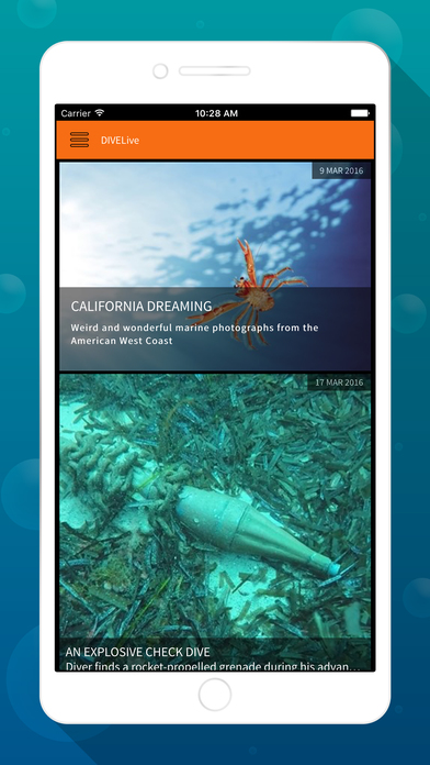 DIVE Magazine iPhone Screenshot 1