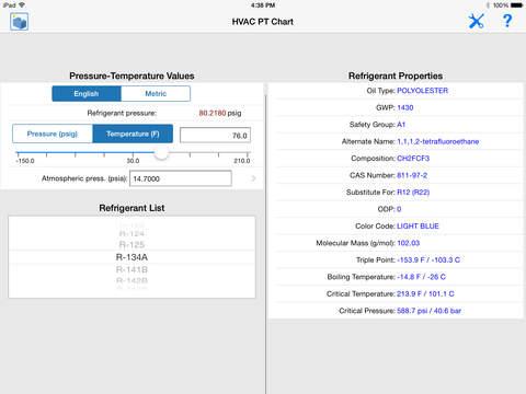 HVAC Toolkit iPad Screenshot 3