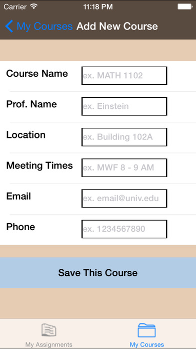 myAssignments iPhone Screenshot 4